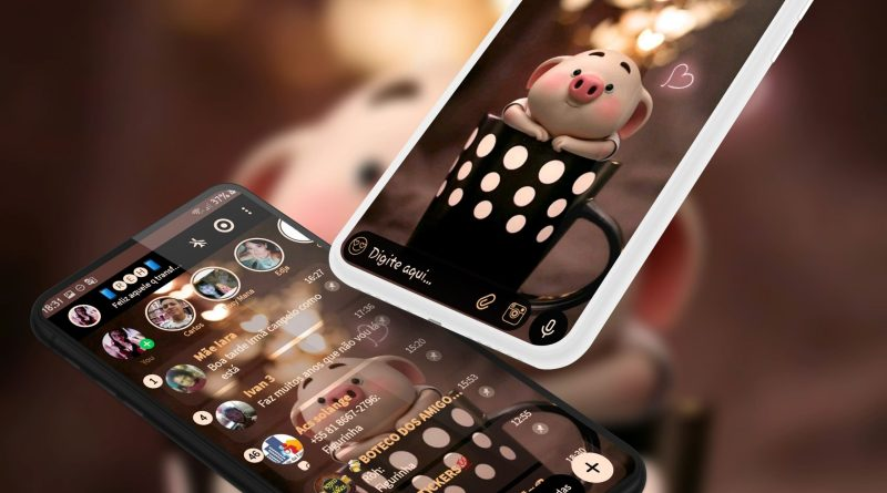 Tema Whatsapp Aero - Cute Piggy 2