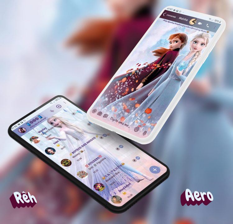 Tema Whatsapp Aero - Frozen 2