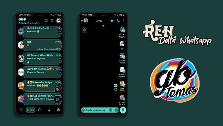 Tema Delta Whatsapp - Black 2