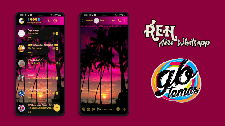 Tema Whatsapp Aero - Coconut trees 5