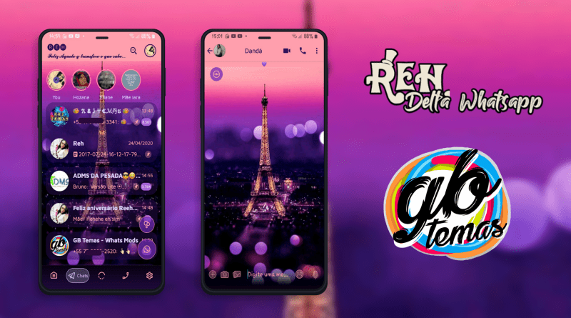 Tema Delta Whatsapp - Eiffel Tower