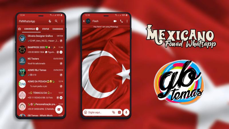 Tema Fouad Whatsapp - Bandeira da Turquia