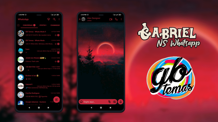 Tema NSWhatsapp - Red Moon