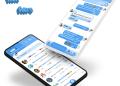 Tema Whatsapp Aero - White blue 3
