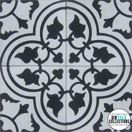 aguayo classic bayahibe black white cement tile