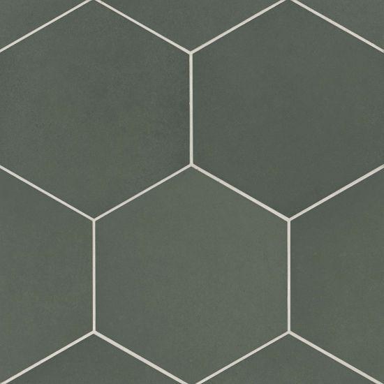 bedrosians makoto midori green 10 x 10 hex floor wall tile