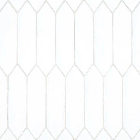 bedrosians reine white matte 3 x 12 picket wall tile