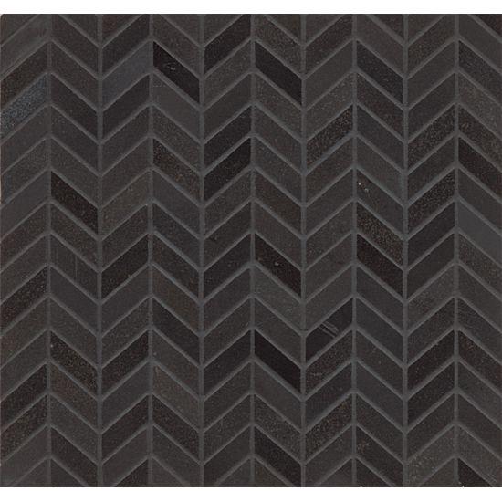 bedrosians absolute black chevron polished granite mosaics