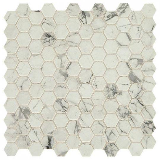 daltile uptown posh resort hex floor wall glass mosaics