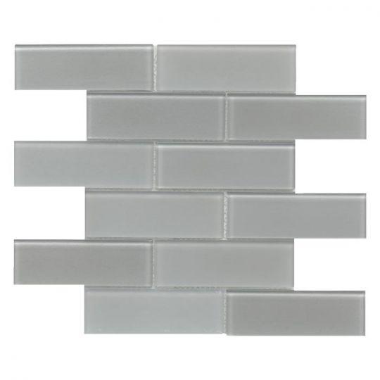 emser h20 silver 12 x 12 glass mosaic