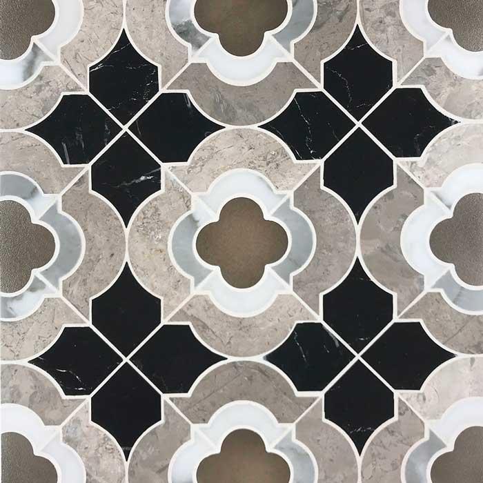 quatrefoil stone mosaics lq 4