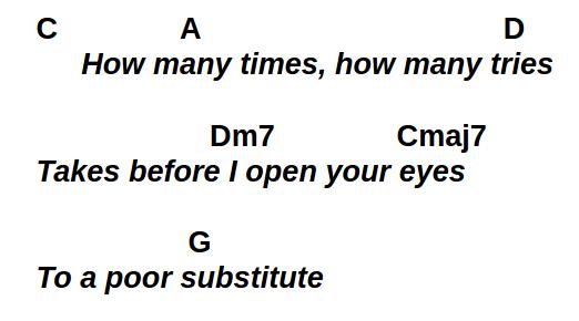 Poor Substitute chorus