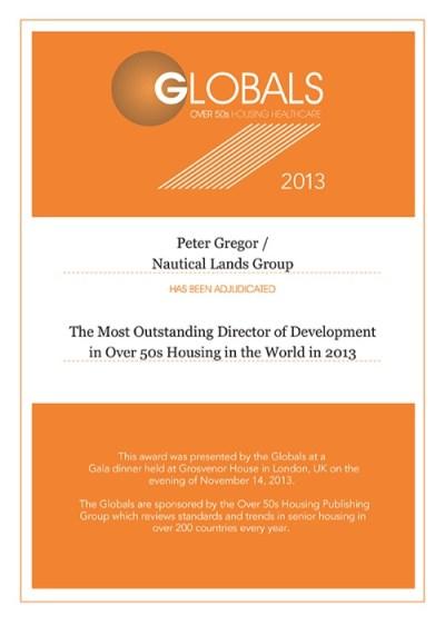 Global Awards Peter Gregor 2013