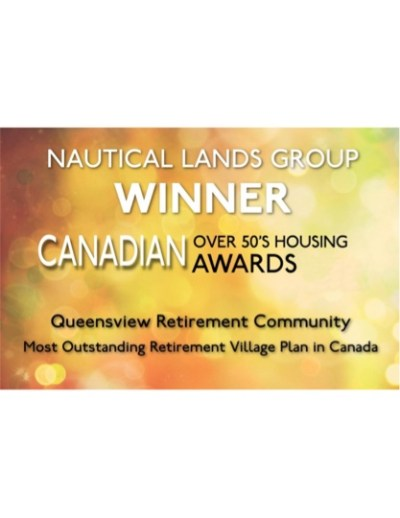Cnadian Over 50s Housing Award 2014 Nautical Lands Group Queensview Retirement Community