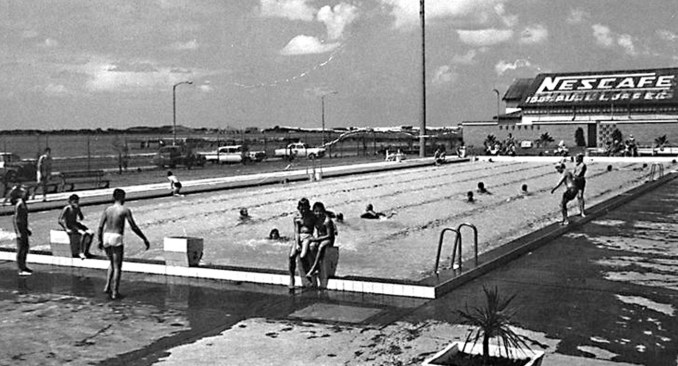 Southport Olympic Pool Complex with the Pier Theatre in the Background.