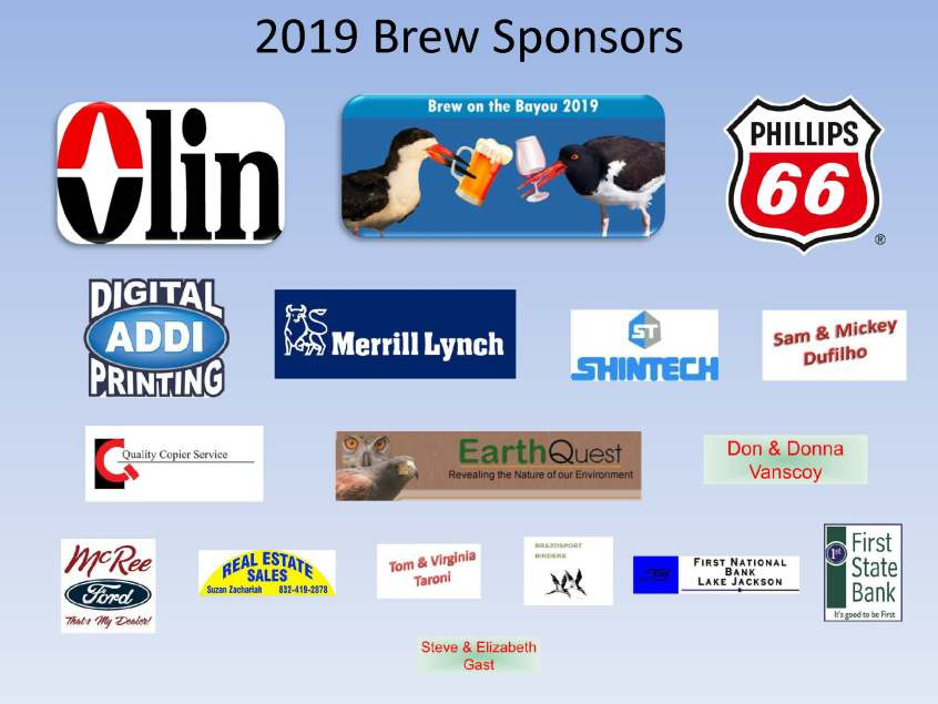 sponsors of 2019 brew on the bayou