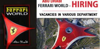 JOBS AT FERRARI WORLD 2019