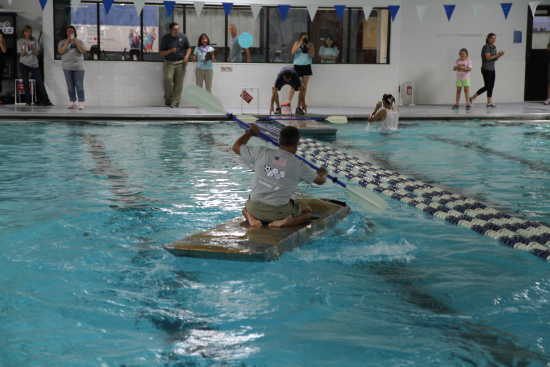 Local News New Pool Season Includes Rock Climbing Wall Duck Race