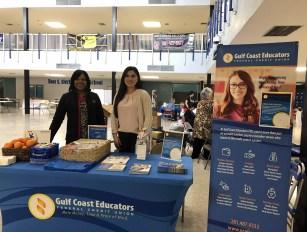 GCEFCU employees at Goose Creek CISD Wellness Fair