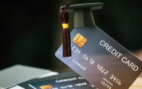 credit card with graduation cap