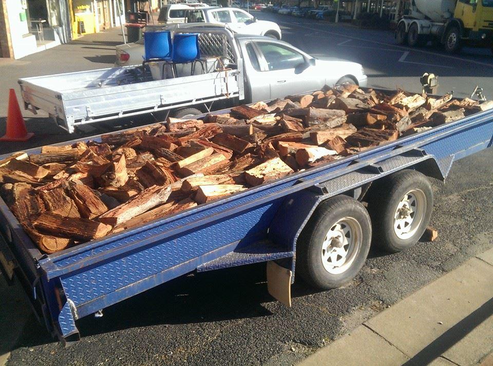GCHR Trailer full for Fire Wood