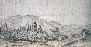 Debuxo de Santiago realizado a finais do século XVII.