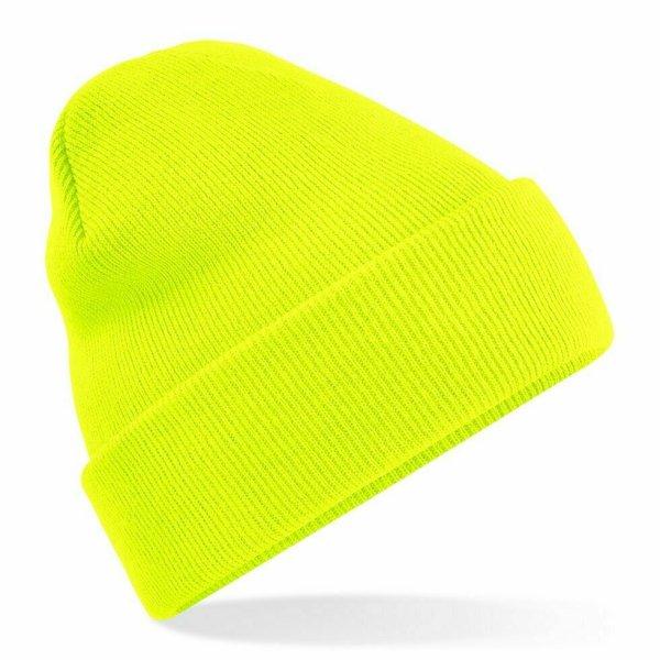 Beanie Hat Fluorescent Yellow