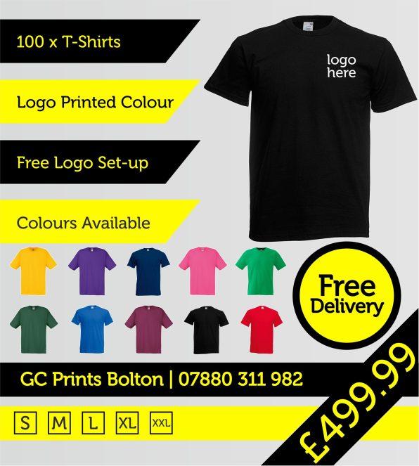 100 T-shirts