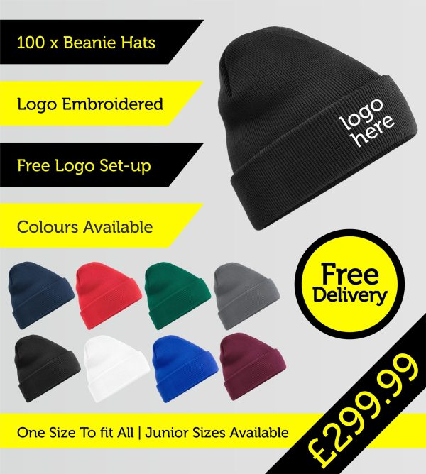 beanie hats embroidered