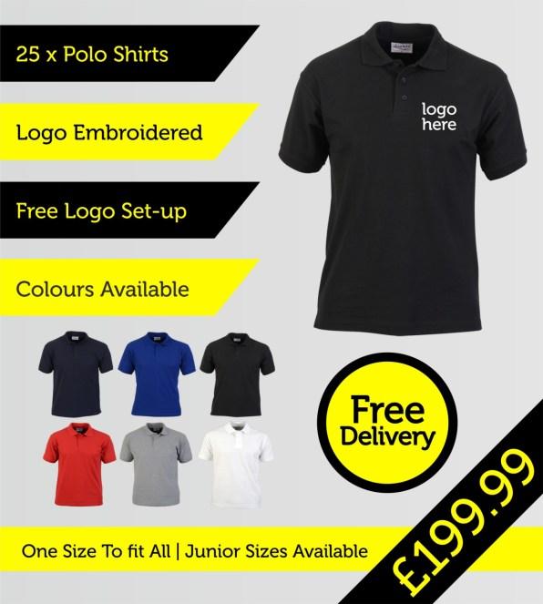 25 polo shirts