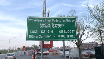 ProJo: Long-awaited pedestrian bridge taking shape over