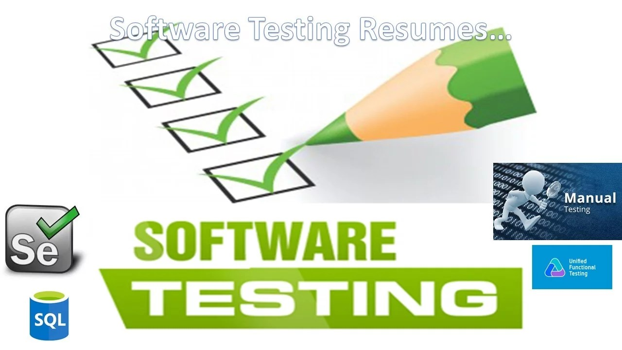 software testing resumes