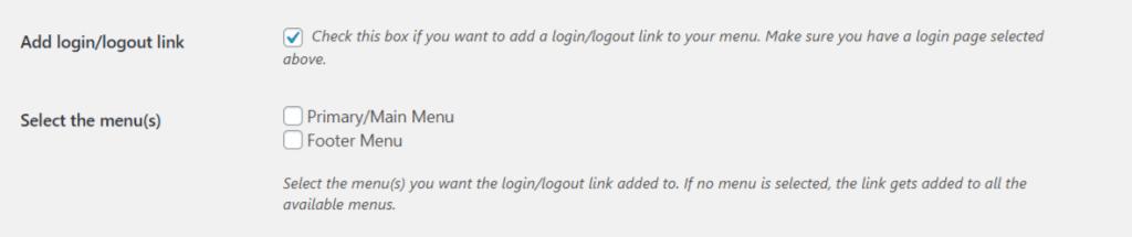 List of available WordPress Menus