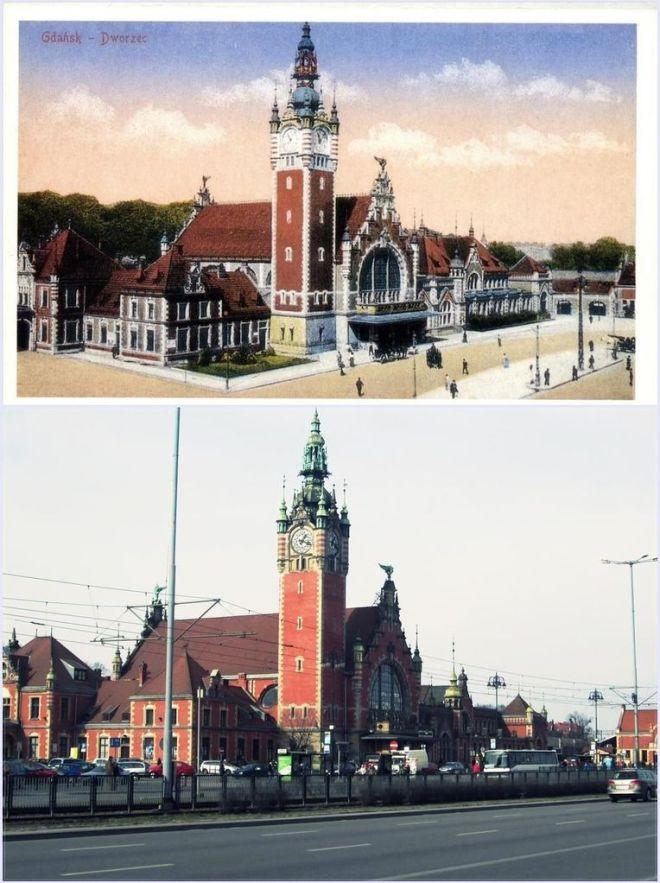 Dworzec na przestrzeni wieku.