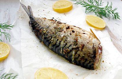 Makrela w koperkowo–czosnkowej marynacie