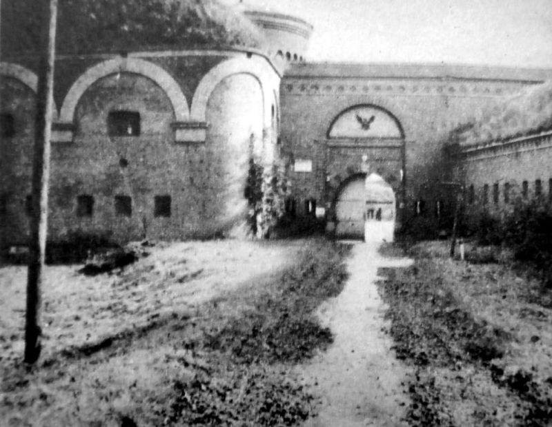Fort Neufähr. Brama wjazdowa na teren fortu (od strony północno-zachodniej).