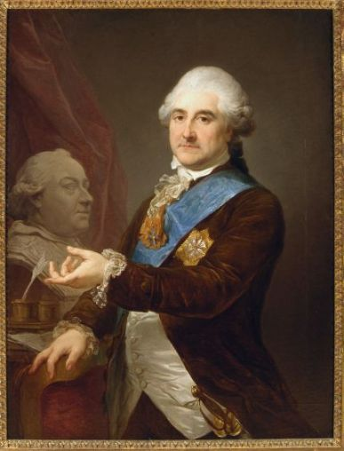 Marcello Bacciarelli Stanisław August Poniatowski z popiersiem papieża Piusa VI. (źródło: Wikipedia)