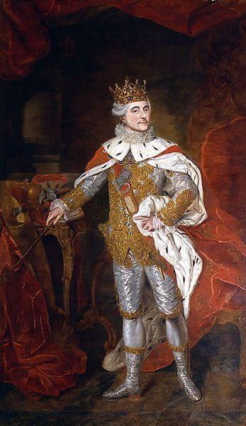 Krzysztof Józef Werner II Stanisław August w stroju koronacyjnym (w rzeczywistości po koronacyjnym). (źródło: Wikipedia)
