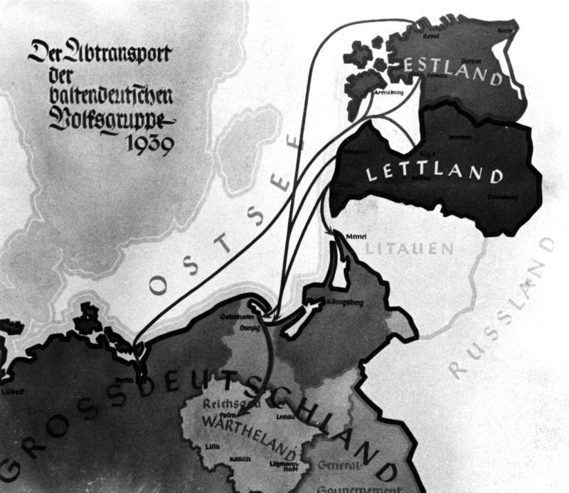 Plany przesiedleń Niemców bałtyckich