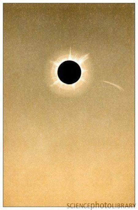 Zaćmienie 1882 r i zaobserwowana kometa.