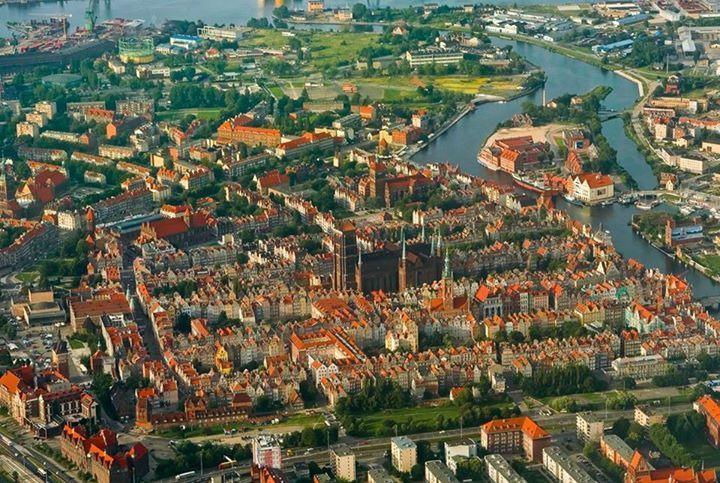 Gdańsk z lotu ptaka rok 2007. fot. Marcin Tarkowski