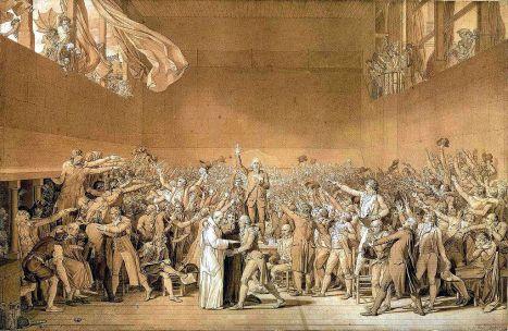 Przysięga w sali do gry w piłkę, Jacques-Louis David
