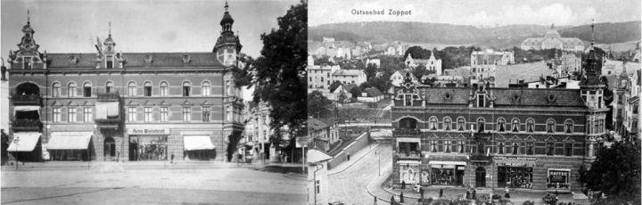 Dom towarowy Fastów w 1900 i 1913 roku