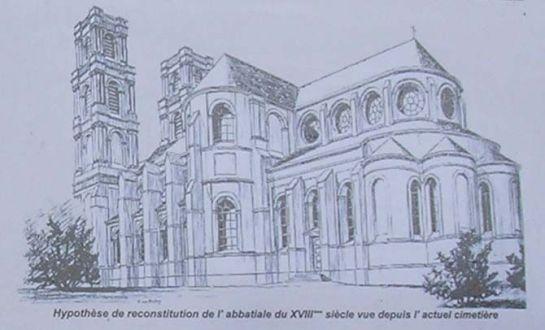 Rekonstrukcja opactwa Mont Saint-Éloi