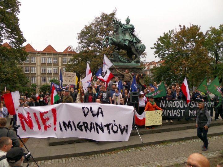 """Manifestacja """"Nie dla imigrantów"""""""