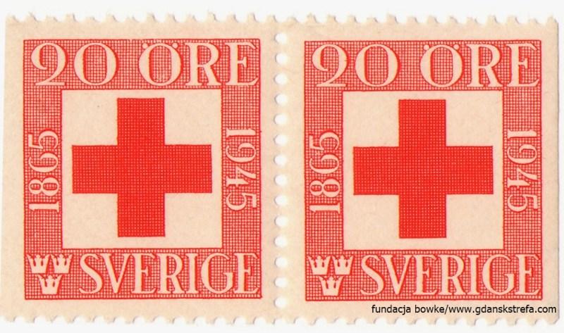 Znaczek jubileuszowy Szwedzkiego Czerwonego Krzyża