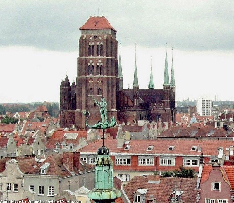 widok z Wieży Więziennej, oddziału Muzeum Historycznego Miasta Gdańska