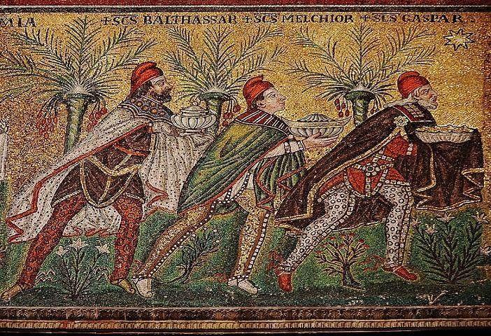 mozaika bizantyjska z Rawenny - trzej królowie