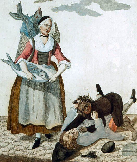 handlarka łososiami