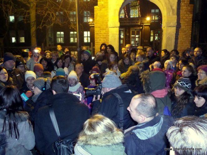Protesty przeciwko likwidacji Pałacu Młodzieży
